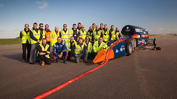 <p>The Bloodhound Supersonic Car Team - image credit Stefan Marjoram</p>