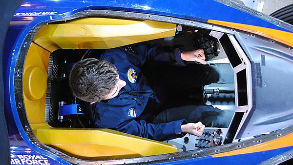 <p>Jack Williams in the Bloodhound Supersonic Car</p>