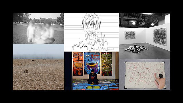 <p>Practice as research conference catalogue montage</p>