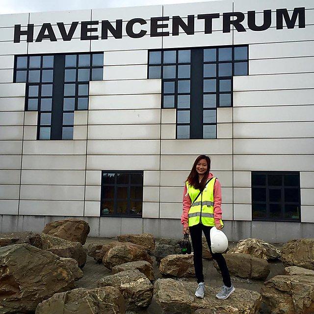 <p>Visiting the Havencentrum atPort of Antwerp,Belgium</p>