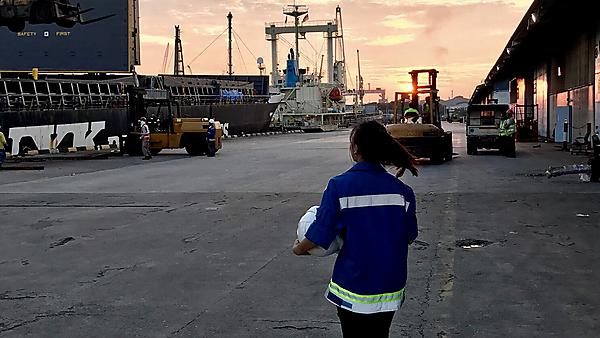Steel operations at Jurong Port
