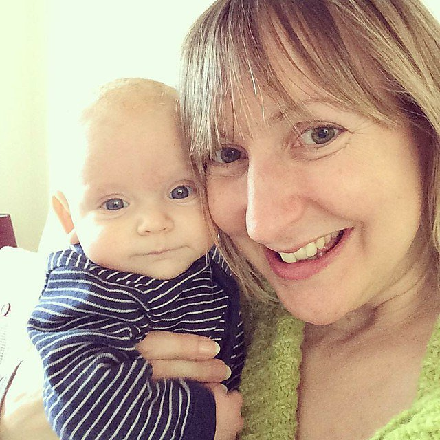 <p>Proud mum and baby Dylan share a special moment together</p>