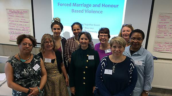 <p>Some of the event organisers and speakers for our Forced Marriage and Honour-based Violence event </p>