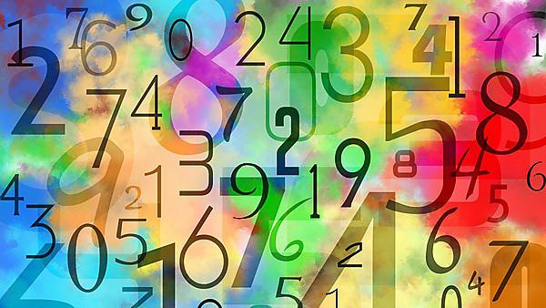 <p>Colourful numbers background.<br></p><p>Pattern obtained by superimposing black numbers on multicoloured background. This is obtained by multiple colours paint watercolour technique on paper.<br></p>