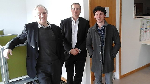<p>From left to right: Dr Martin Pitt (Director of PenCHORD, University of Exeter), Dr Jonathan Moizer (M&amp;S3, University of Plymouth) &amp; Dr Tim Hobbs (Director Dartington Service Design Lab).<br></p>