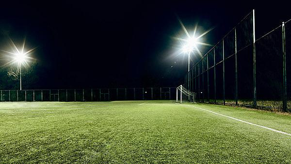 <p>Football pitch at night - image courtesy of Getty Images</p>
