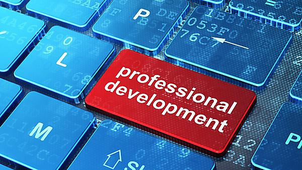 <p>Professional Development on computer keyboard - 3D render<br></p>