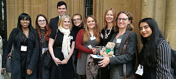 <p>Students and staff from the Plymouth Law Clinic in London for the awards ceremony</p>