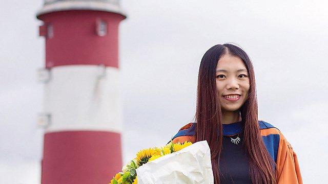 <p>Qian Chen at graduation</p>