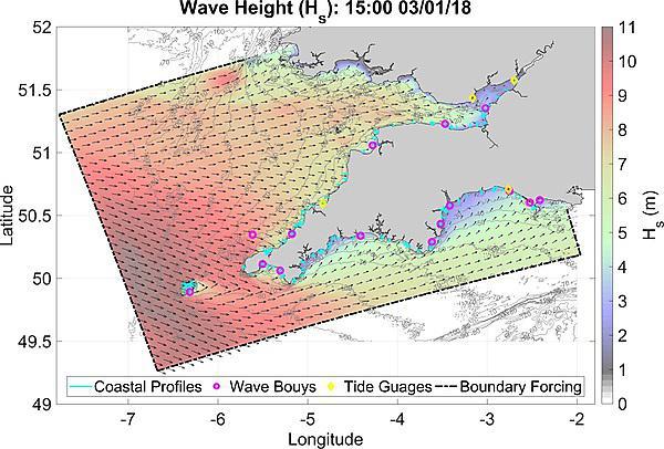 Real-time coastal flood forecast model