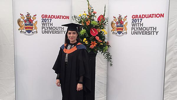 Sara Kawamura at graduation