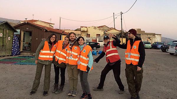 Sara Kawamura volunteering in Greece
