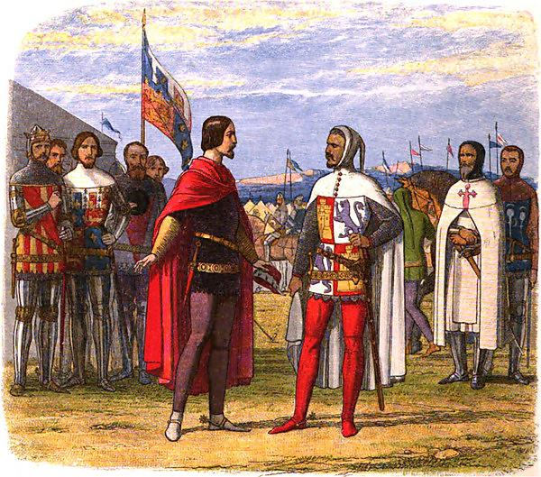Edward the Black Prince Extorts an Amnesty from Pedro the Cruel (via Wikimedia Commons)