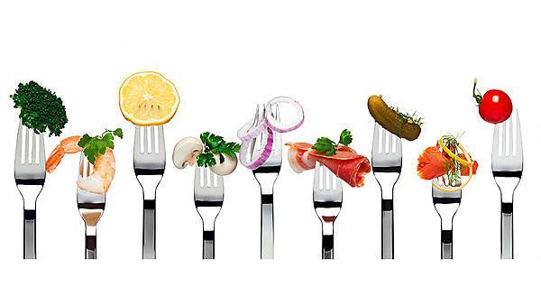 <p>Getty image 162692797 dietetics food on fork</p>
