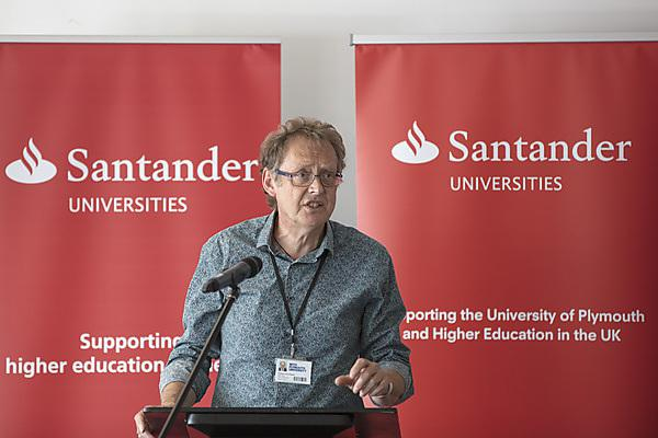 Professor Jerry Roberts speaking at the celebration
