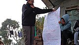 Brainstorming ideas to create a questionnaire that asked villagers about their washing, hygiene and sanitation habits
