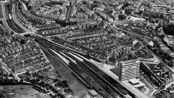 <p>Aerial photo of Plymouth Railway Station</p>