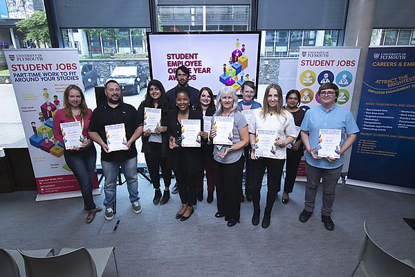 <p>Student Employee of the Year Award Winners 2018</p>
