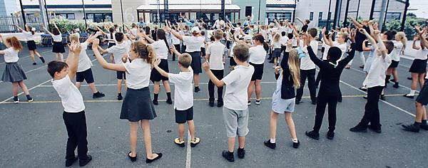 <p>Children at Beechwood Primary Academy learning how to dance in the bangra style</p>