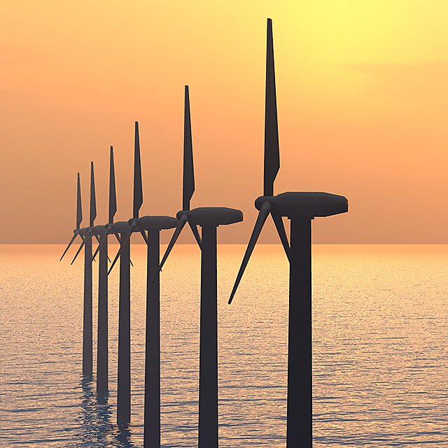 <p>Wind turbines square</p>