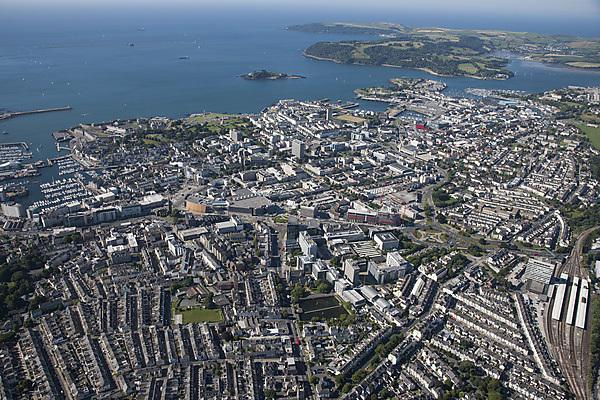 <p>Plymouth city centre by air</p>