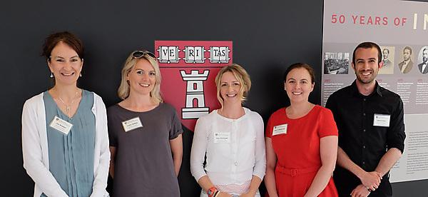 <p>Pictured (L-R) are Dr Zoe Brookes, Dr Louise Belfield, Clare McIlwaine, Jane Collingwood and Dr Daniel Zahra</p>