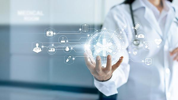 <p>Technology Innovation and medicine concept. Doctor and medical network connection with modern virtual screen interface in hand on hospital background<br></p>