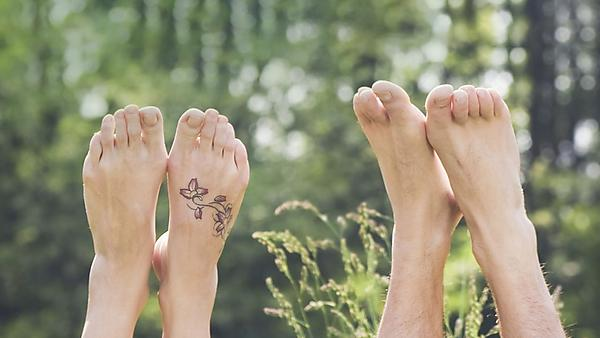 <p>Feet in the air - image courtesy of Shutterstock</p>
