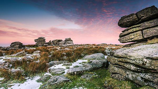 <p>Cold and frosty morning in Dartmoor National Park, Devon<br></p>