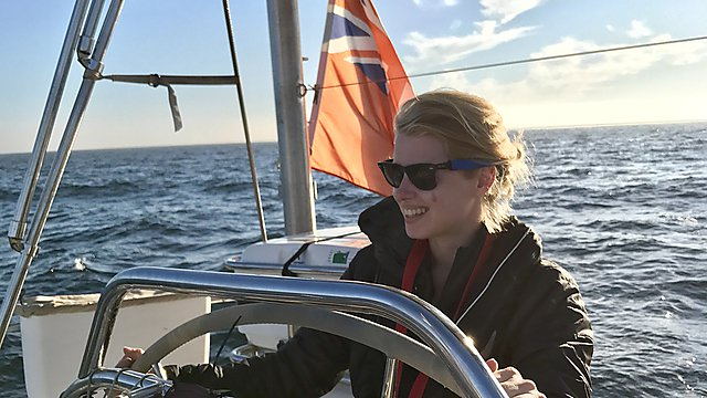<p>Imogen Napper on the 2018 eXXpedition trip</p>