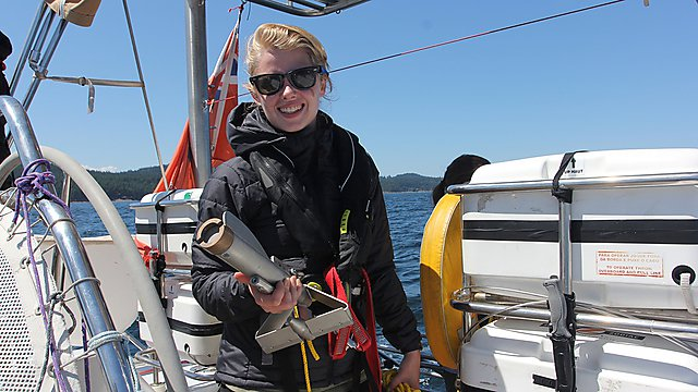 <p>Imogen Napper on the 2018 eXXpedition trip<br></p>