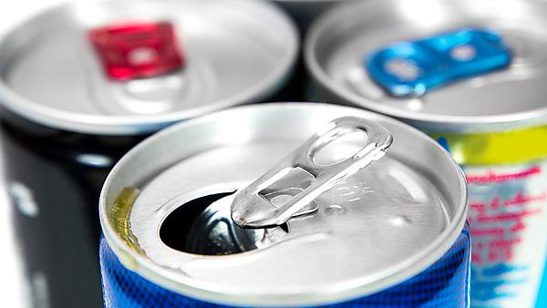 <p>Energy drink cans - image courtesy of Getty Images</p>