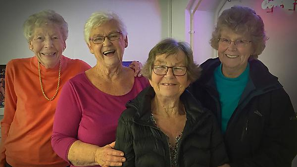 Dorothy Tudor, carer (far right), was part of the team who developed the original application and will have ongoing input for PPI throughout the project