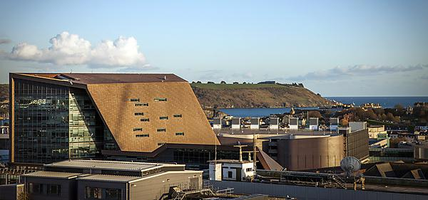 <p>Roland Levinsky Building and City of Plymouth looking out to sea<br></p>