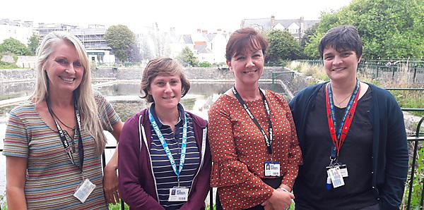 <p>University of Plymouth Peninsula Medical School Widening Participation team - Dr Louise Alldridge, Dr Helen Watson, Julie Monk and Dr Kerry Gilbert