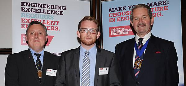<p>University student Jake Cronk with Brian