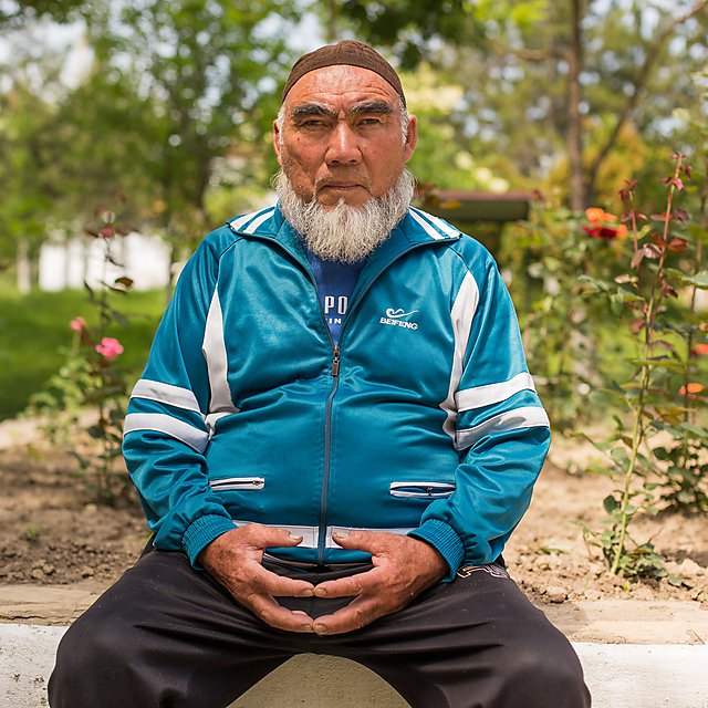 <p>                   </p><p>Patient at Krygyz Research Institute of Balneology and Recovery Treatment. This patient has dedicated his treatment to using rehab in an effort to overcome his disease. Image: Carey Marks</p><p></p>