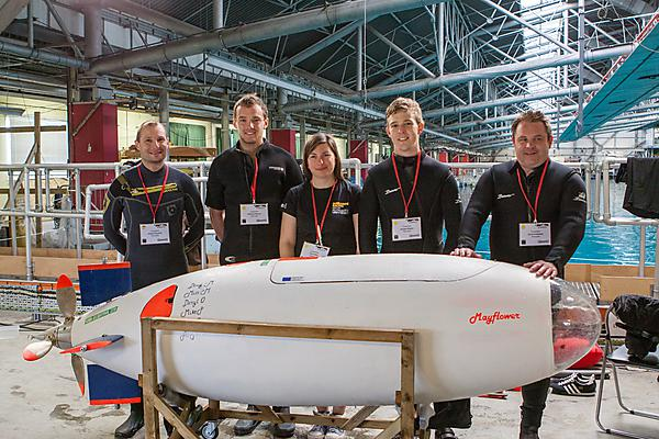 University of Plymouth dives deep to break human-powered submarine record
