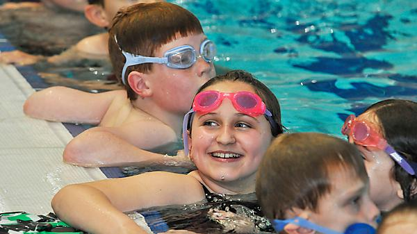 Children swimming at Plymouth Life Centre