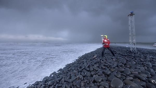 Storm chasers collecting storm data at Westward Ho!