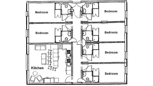 Accommodation - St Thomas Court floor plan