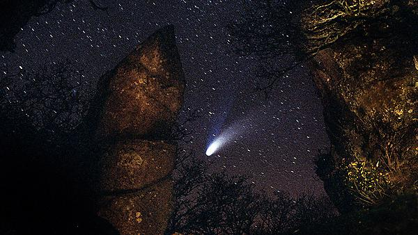 Comet over Dartmoor