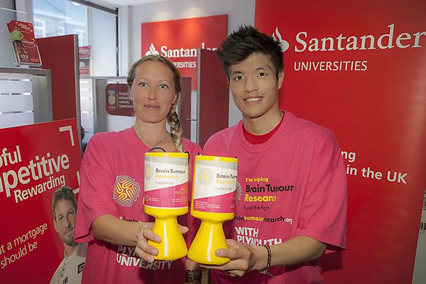 Santander staff support Brain Tumour Research in Plymouth