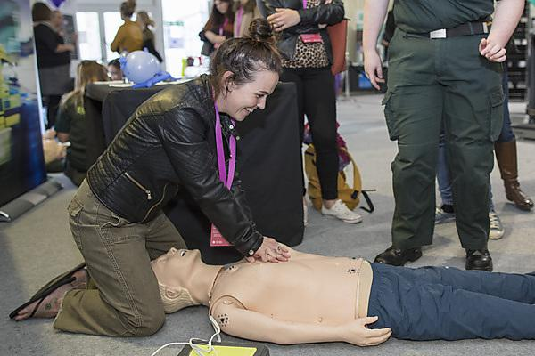 <p>Schools try their hand at CPR at Health Showcase 2018</p>