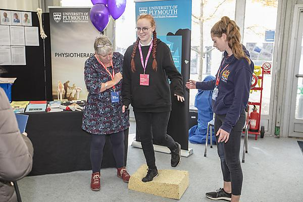 <p>Balancing with physiotherapy at Health Showcase 2018</p>