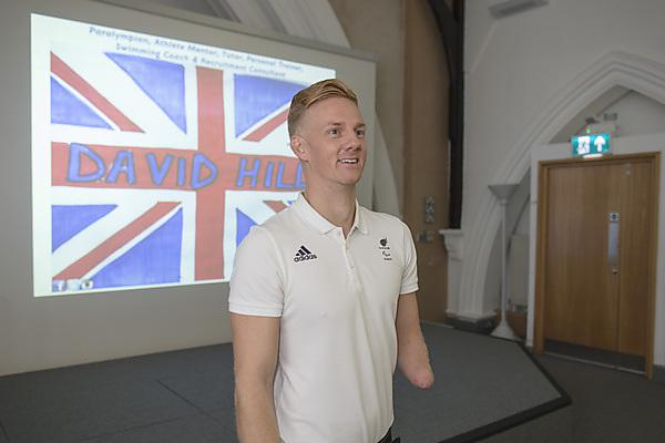 <p>Paralympian David Hill at Health Showcase 2018</p>