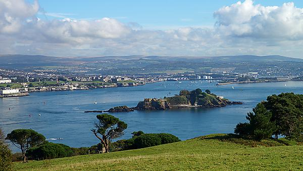 View from Plymouth Sound from Mount Edgcumbe