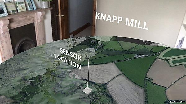 <p>Knapp Mill landscape in augmented reality. Image: SEI Creative Associates/Pete Downs/The Data Place/Controlled Frenzy</p>
