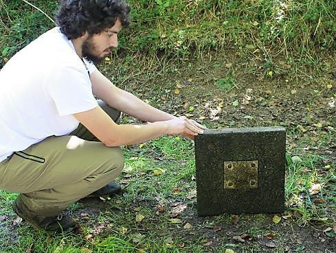 An impact plate used to collect data from the River Avon