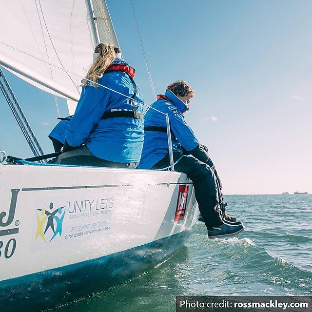 <p>Harry Dodge sailing. Photo credit: rossmackley.com</p>